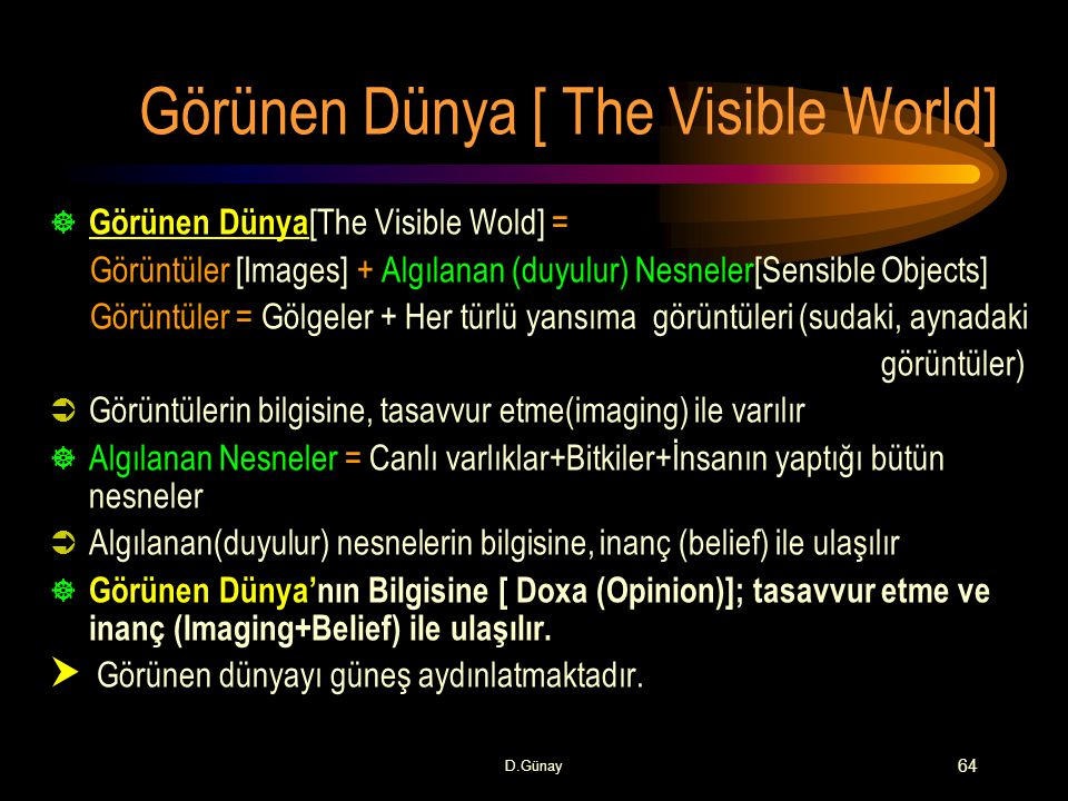 Görünen Dünya [ The Visible World]